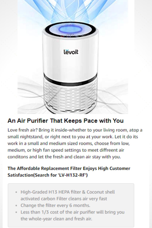 3 Stage Filtration System Prefilter, TRUE HEPA Filter