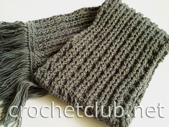мужской шарф крючком вязание мужской шарф шарф и вязание