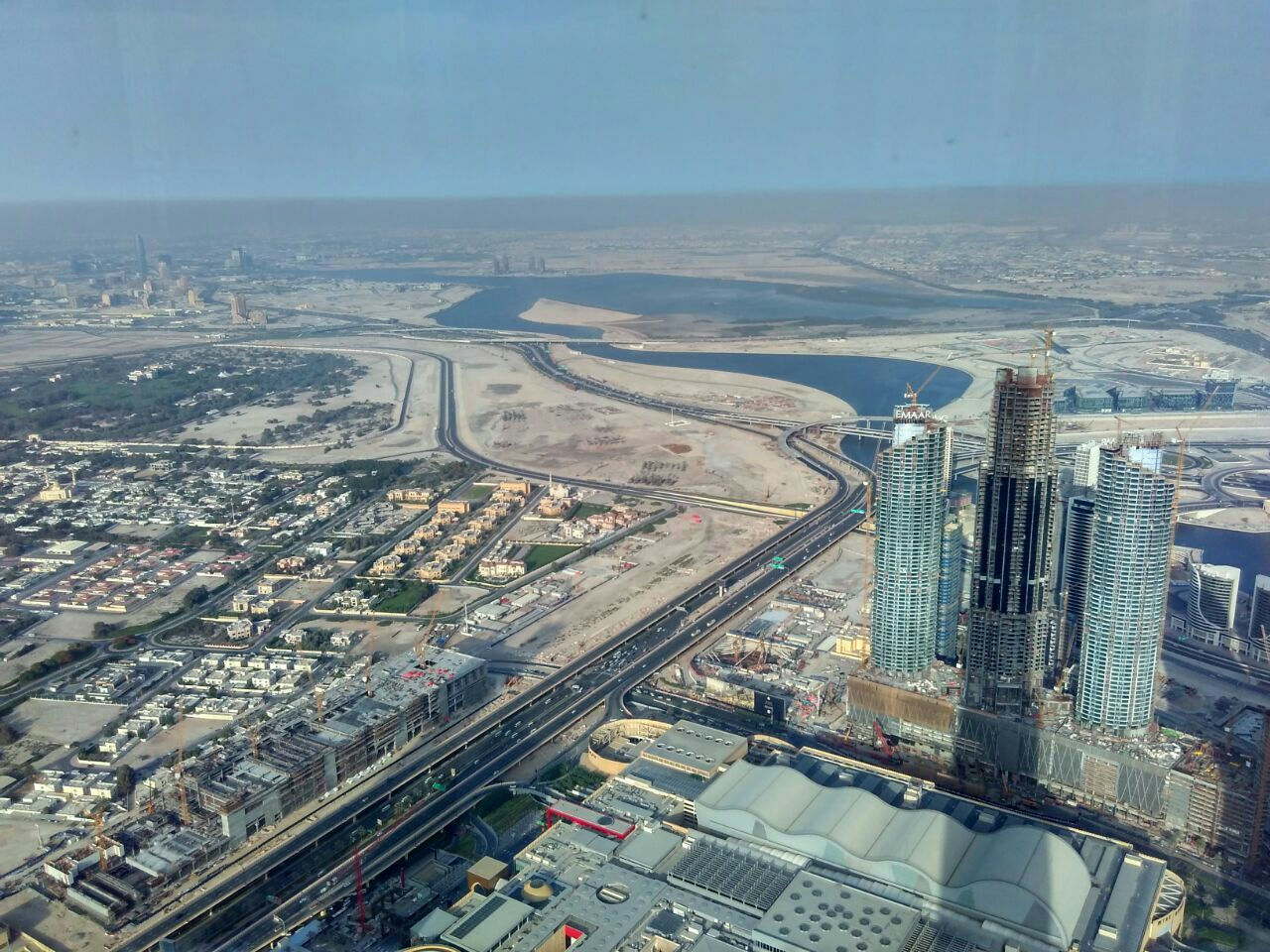Dubai Creek seen from Burj Khalifa observation deck