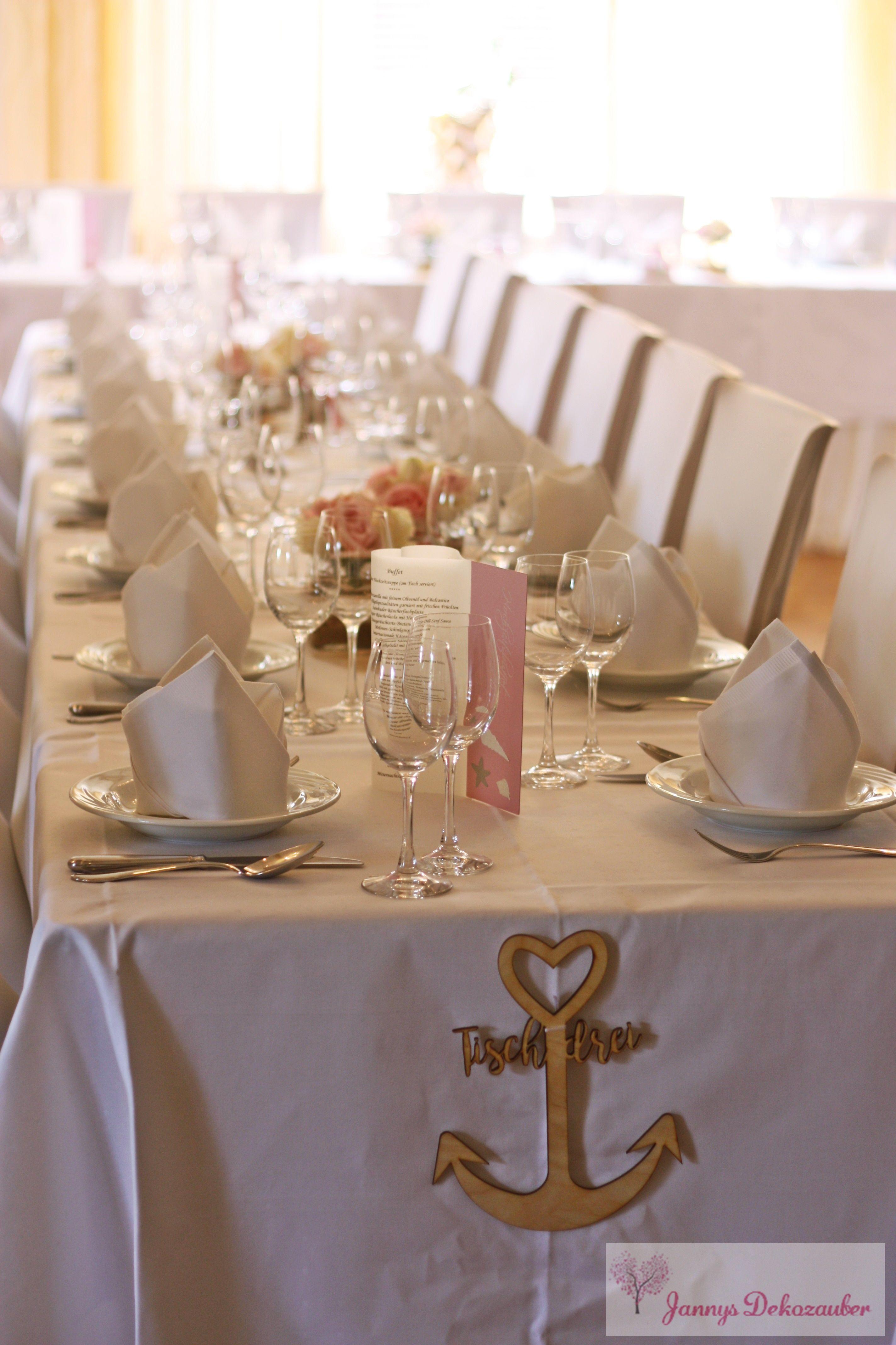Tischdeko Maritim Anker Hochzeit Hochzeitsdeko Rosa Weiss Hussen