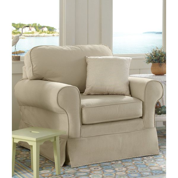 L.L.Bean Pine Point Slipcovered Swivel Rocker (1,065 CAD) ❤ liked ...