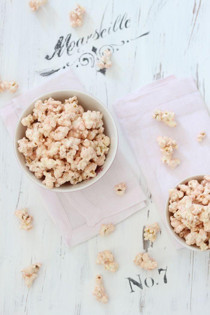 Rosa Popcorn Mit Weisser Schokolade Recipe Delicious Dessert