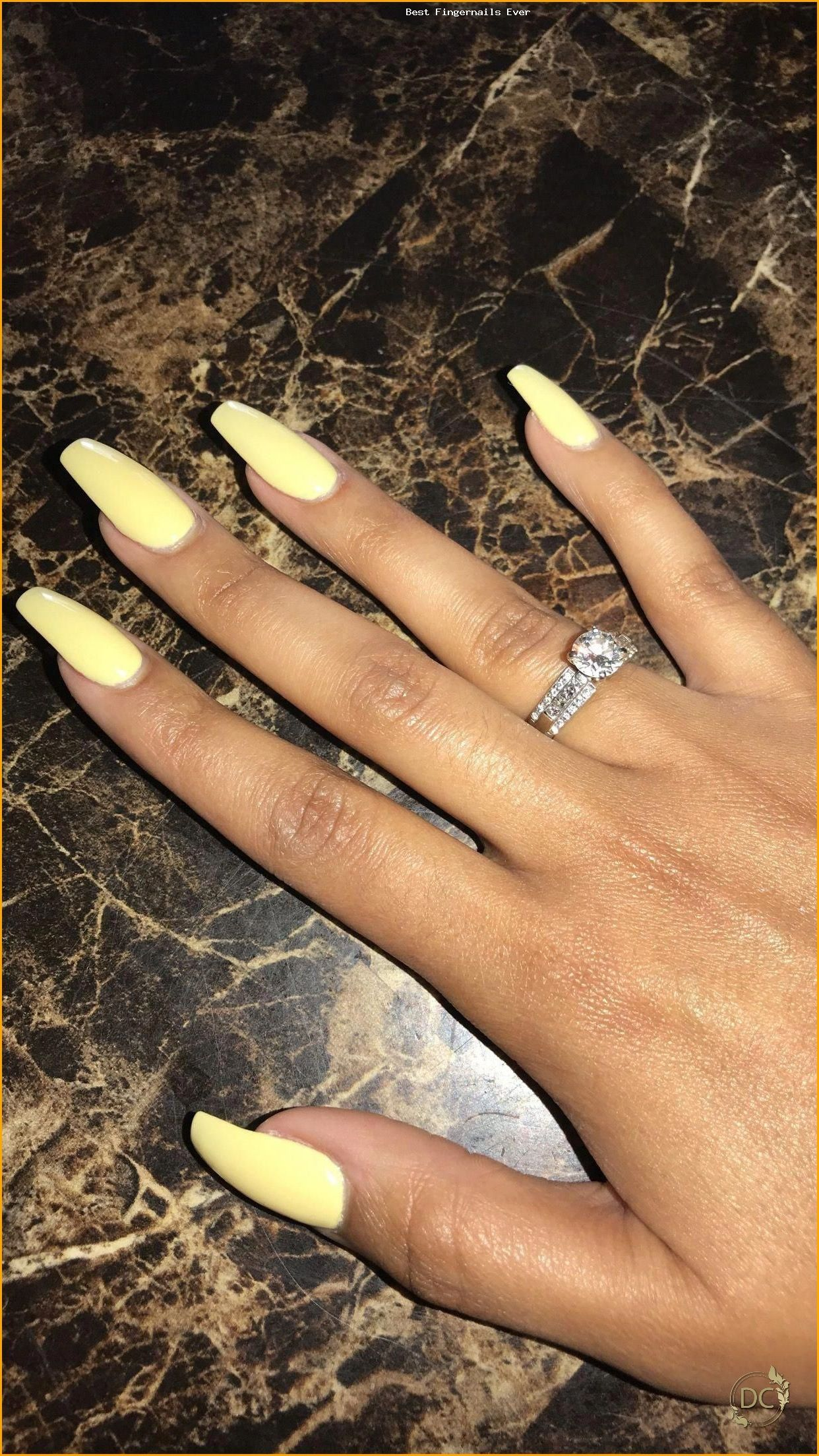 Yellow nails Pastel nails Spring nails Gel nails Acrylic coffin nails Long nails - Fingernails for Best Ever