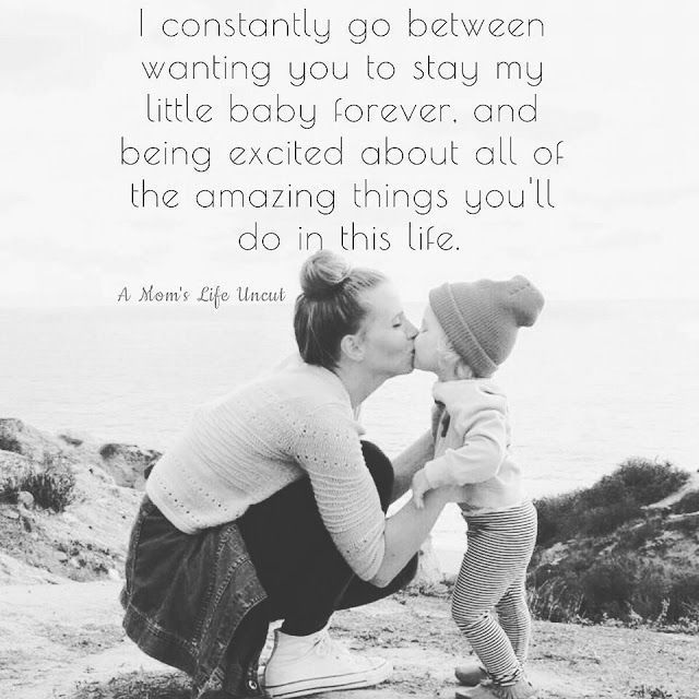 I constantly go between wanting you to stay my little baby forever. And being excited about all of the amazing things you'll do in this life. This is very true for us moms! #littleboyquotes