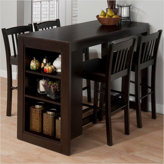 Jofran Marlyland Merlot Counter Height Table Set The Simple