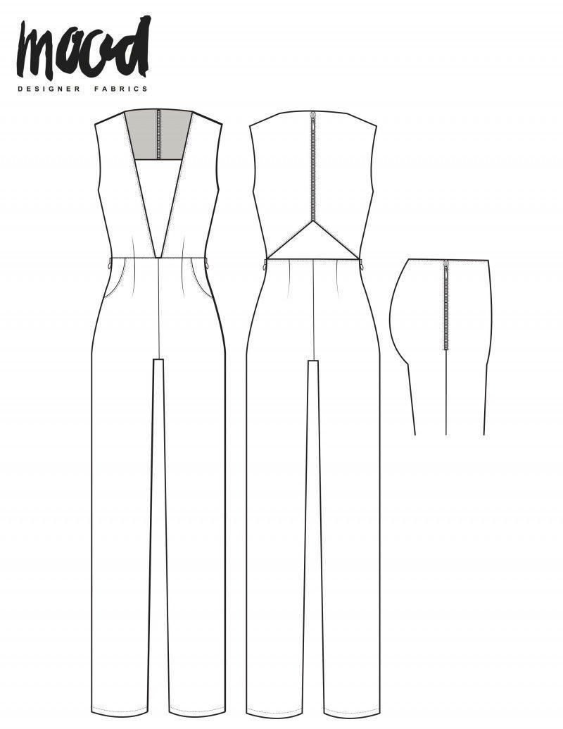 The Poplar Overalls - Free Sewing Pattern - Mood Sewciety | Diy ...