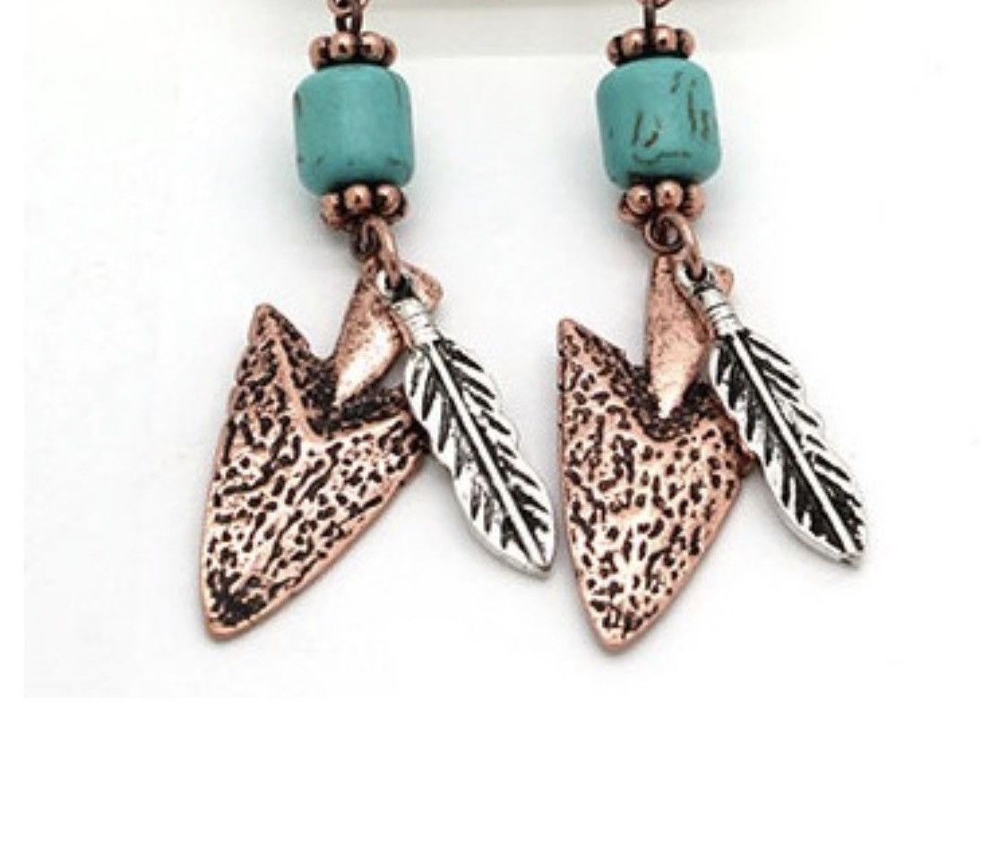 Arrow & Feather Earrings