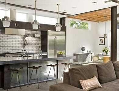Cocina estilo industrial open space estilo industrial for Diseno de apartamentos industriales