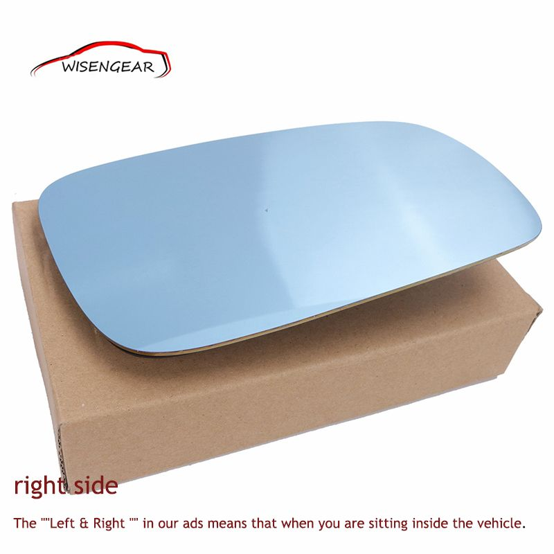 Right Side Blue Tinted Heated Mirror Glass For 1999 2000 2001 2002