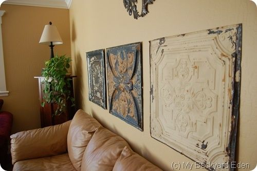 Decorating With Old Ceiling Tiles