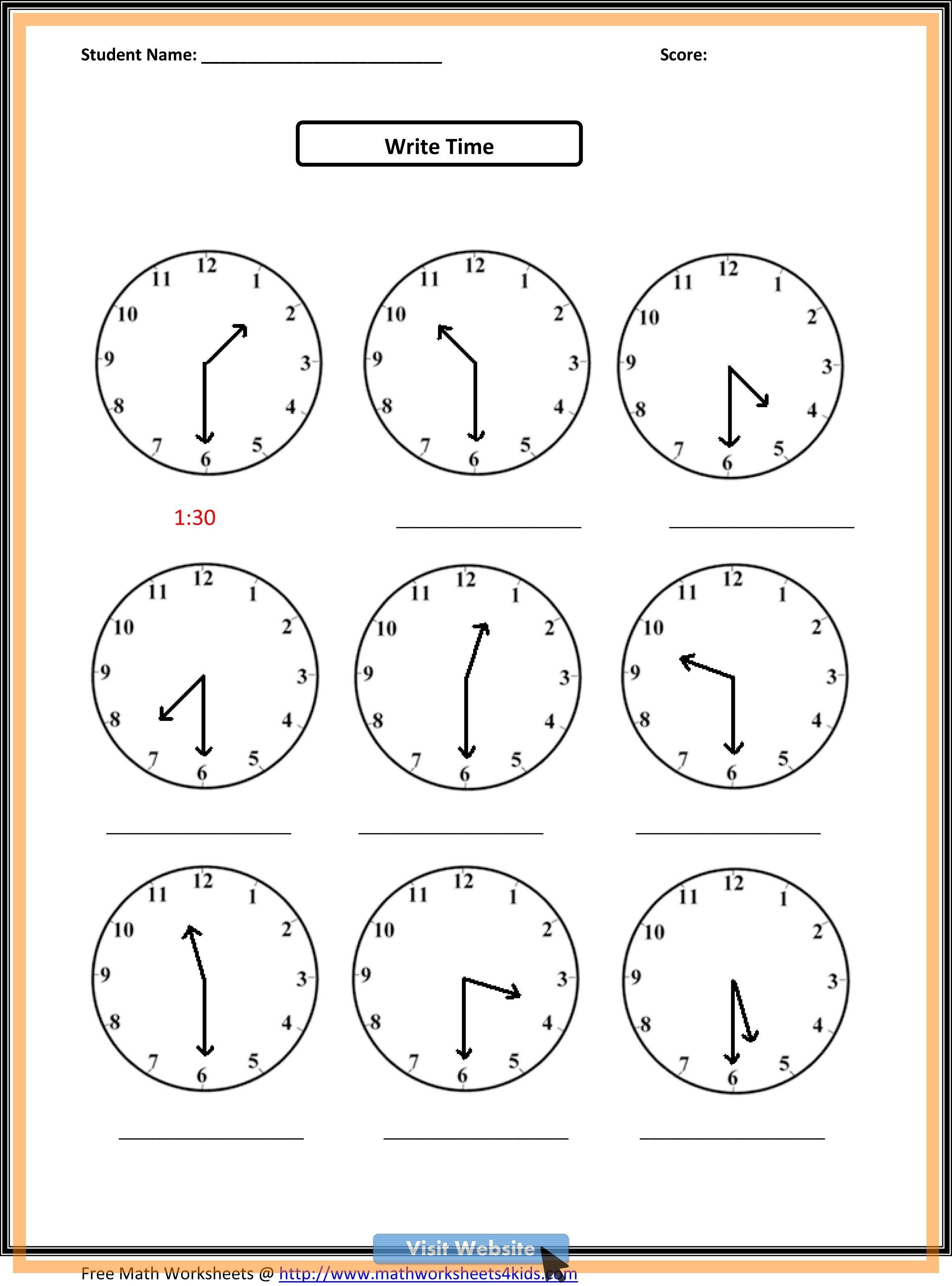Math Worksheets First Grade Numbers In