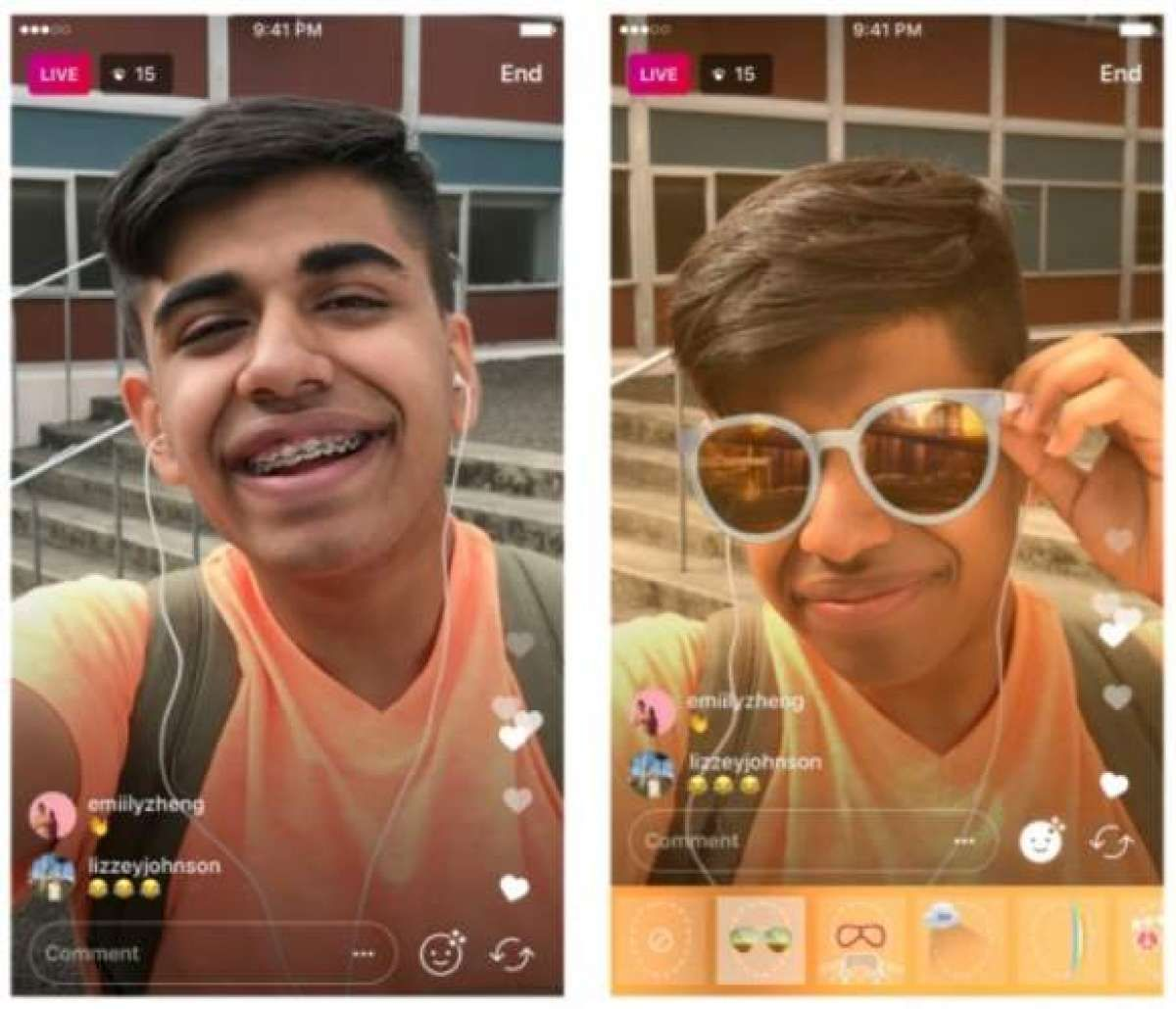 Instagram Adds Face Filters To Live Video News Face