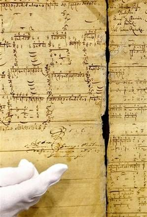 Two manuscripts date from around 1700 and contain copies Bach made of organ music composed by Dietrich Buxtehude and Johann Adam Reinken.Researchers found the documents in the archives of the Duchess Anna Amalia library in Weimar, where a previously unknown aria by Bach was discovered last year. The document, along with another script recently recovered in the Anna Amalia Library in Weimar, Germany, dates around 1700 and is classified as the oldest handwritten music script of Bach.