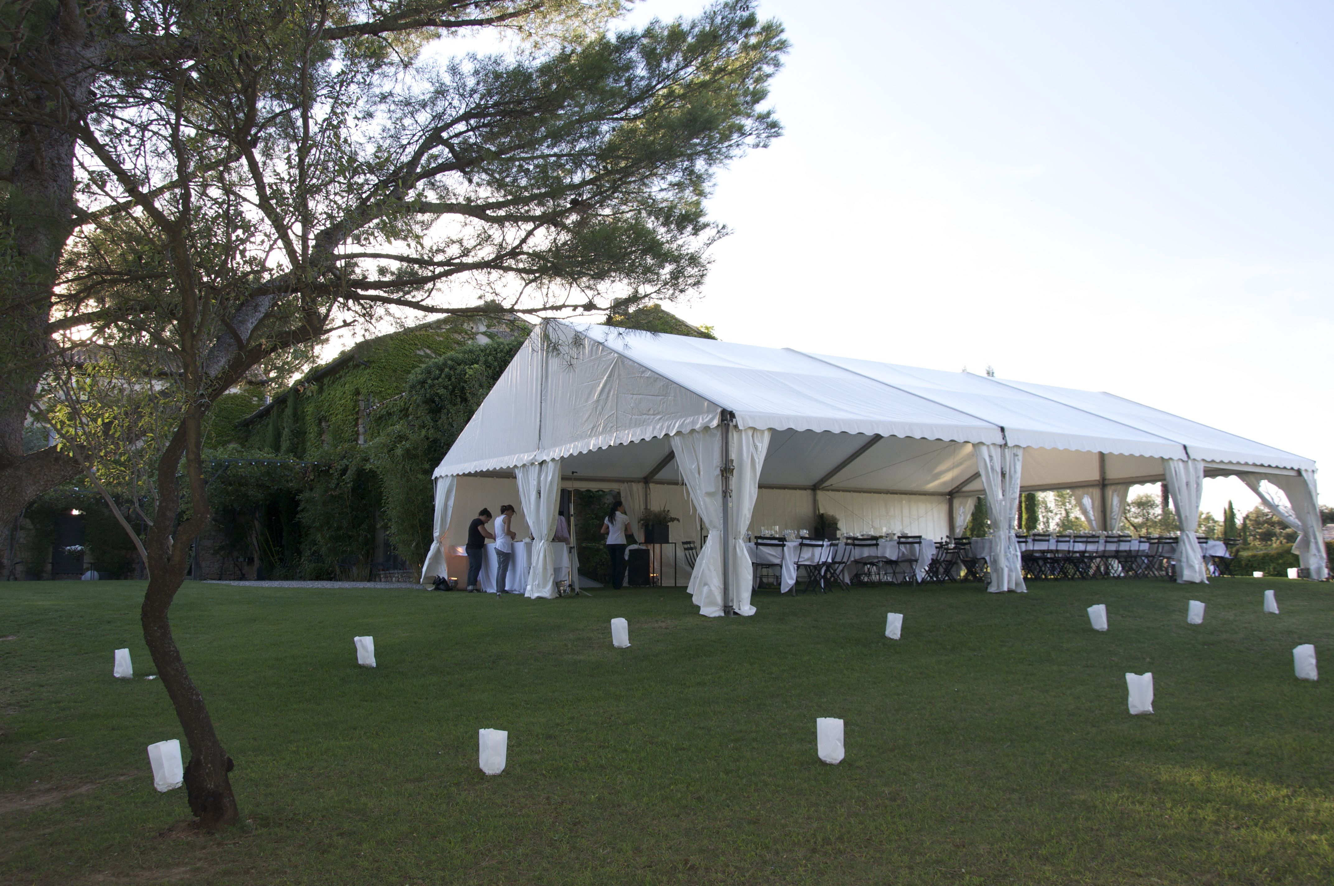 Wedding in Provence - Marquee Set Up
