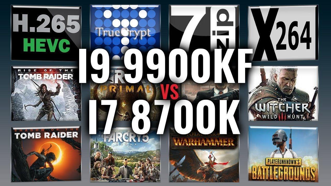Intel i9 9900KF vs i7 8700K Benchmarks Test Review
