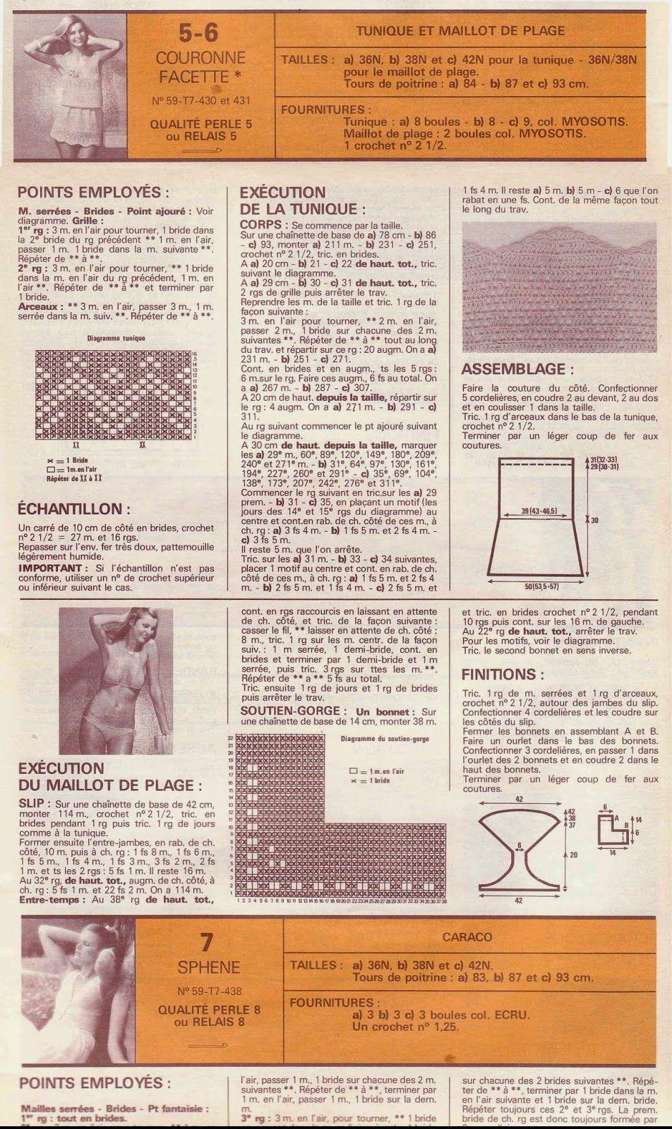 patron-crochet-vintage-1.jpg (952×1600) | bikini | Pinterest