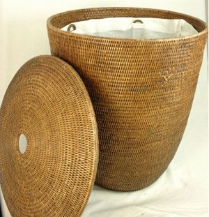 rattan laundry basket by baolgi corbeille linge rotin 2 tons couvercle et sac tissu baolgi. Black Bedroom Furniture Sets. Home Design Ideas