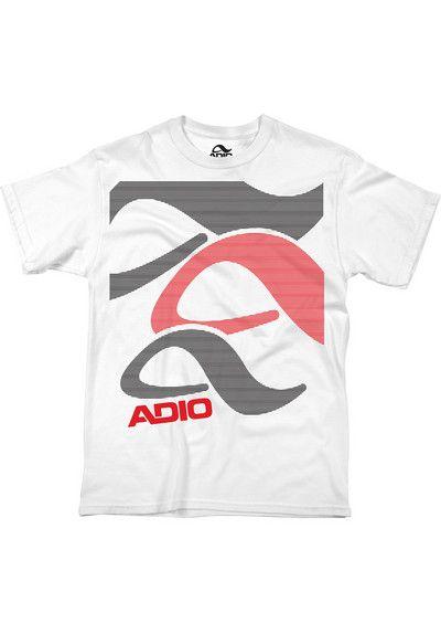 75881c77ffe59f Adio Block T-Shirt white