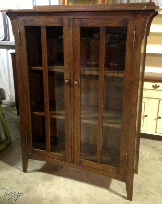 Auction Preview - Houston Antique Furniture Auctions & Events | Trevizo  Estate Auction - Mission Style Two Door Bookcase Display Cabinet - Auction Preview - Houston Antique Furniture Auctions & Events