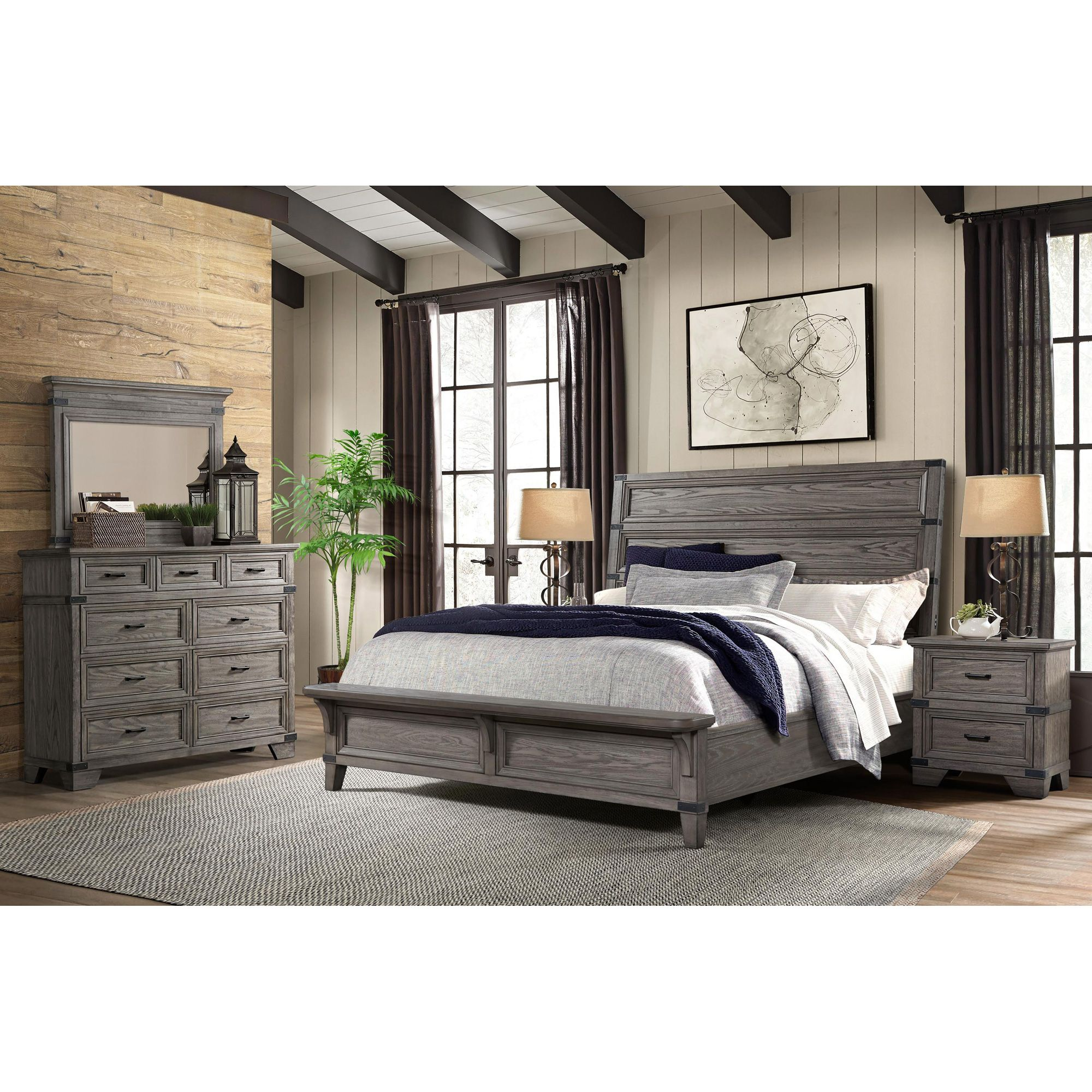 Forge Gray King Bed King Bedroom Sets King Bedroom Bed