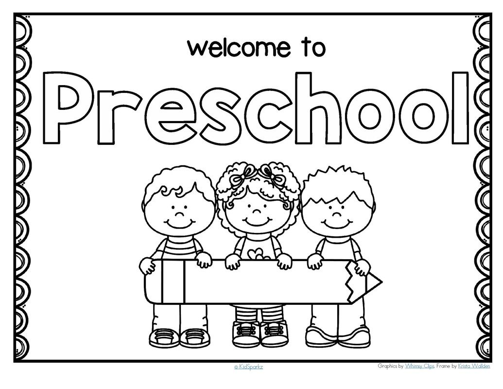 Back To School Theme Activities And Printables For Preschool Pre K And Kindergarten Welcome To School School Coloring Pages Welcome To Preschool