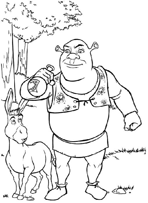 Free printable shrek coloring pages for kids coloring home pages