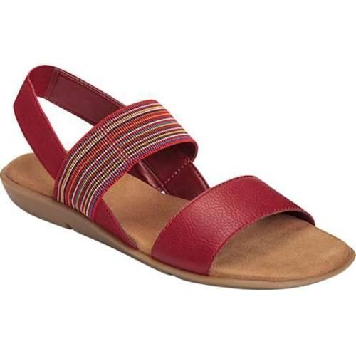 Womens Sandals Aerosoles Savant Red Combo