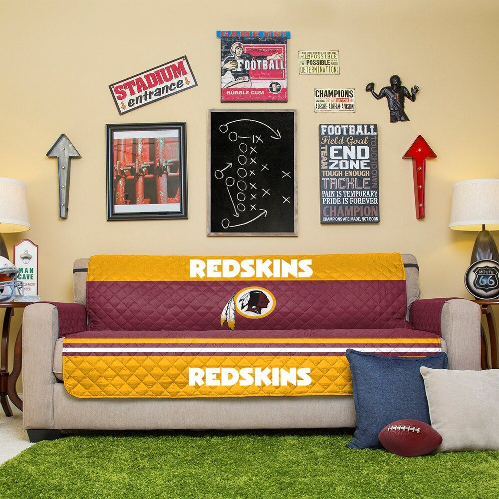 Surprising Washington Redskins Quilted Sofa Cover In 2019 Products Creativecarmelina Interior Chair Design Creativecarmelinacom