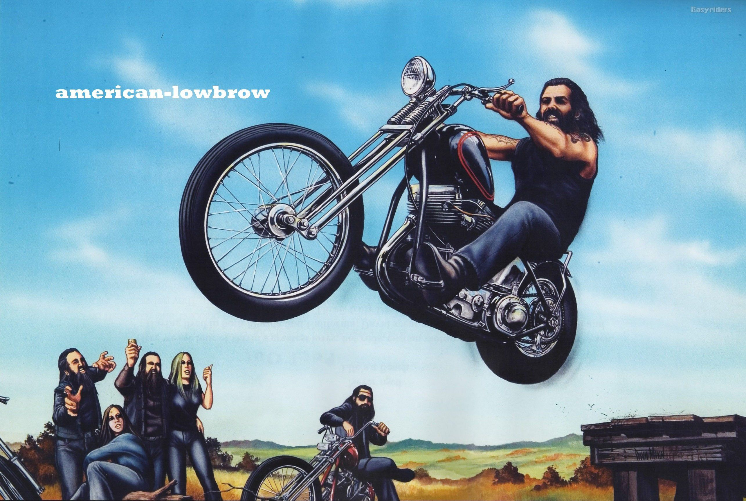David mann motorcycle biker easyriders centerfold art