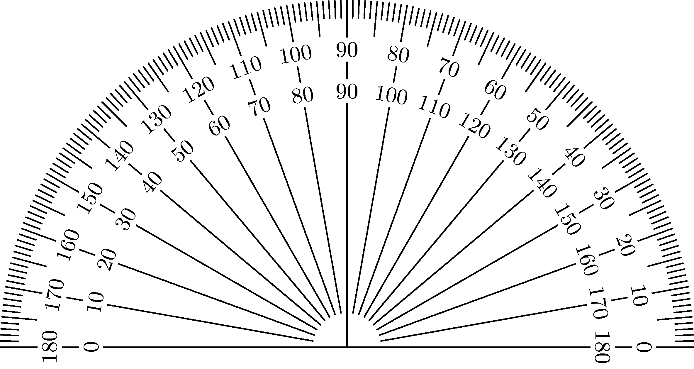 image relating to Protractor Printable Pdf identified as Tonja Lenderman Learned the ideal printable protractor for