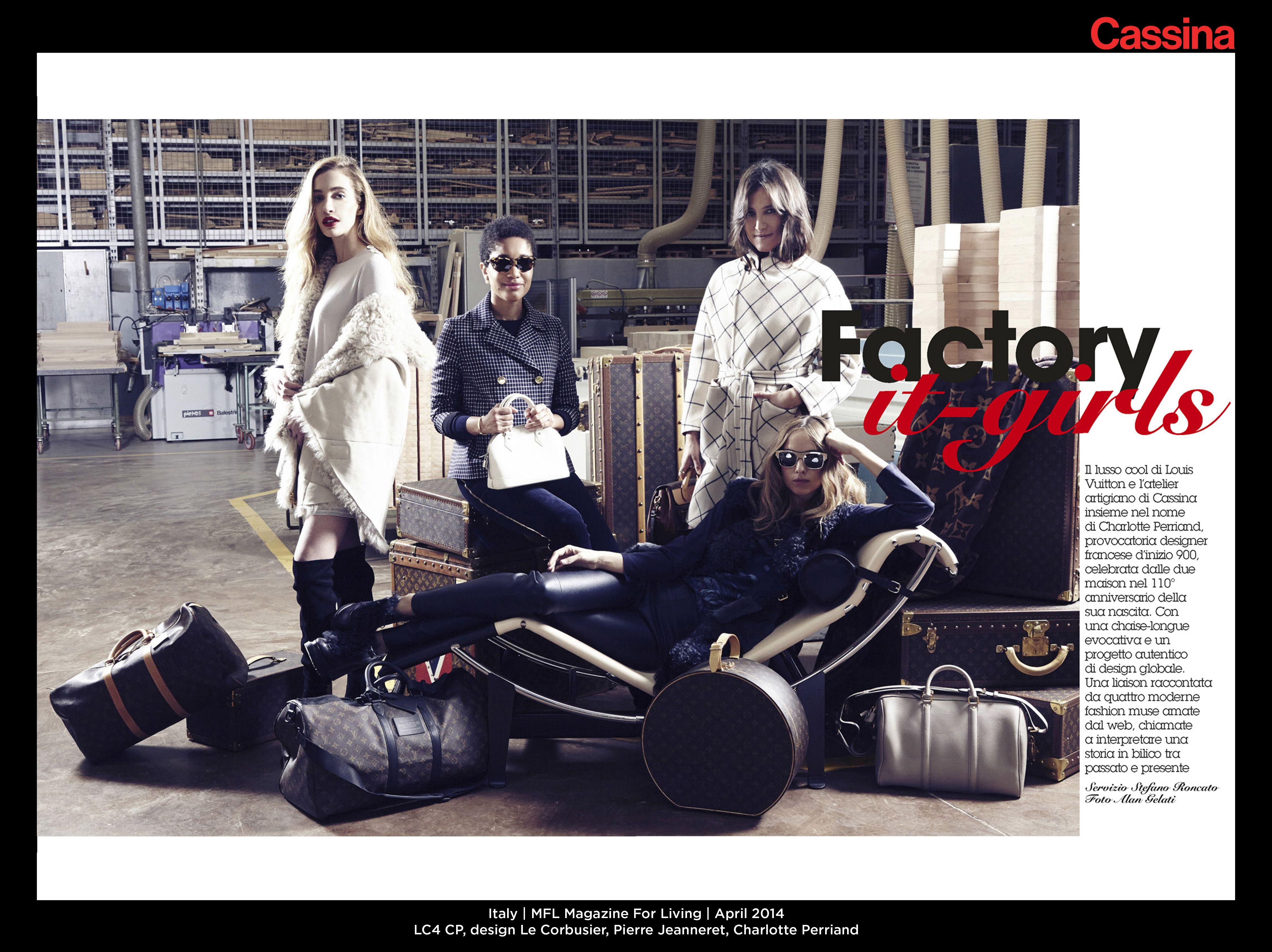 Italy | MFL Magazine For Living | April 2014 | LC4 CP, design Le Corbusier, Pierre Jeanneret, Charlotte Perriand | Discover more on: http://cassina.com/it/collezione/poltrone-e-divani/lc4-cp