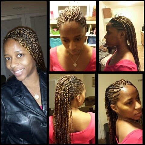Side Corn Rows Mohawk Twist
