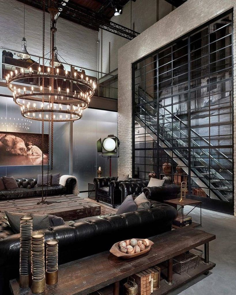 Ideas For Rustic Living Room Idea Of Decoration In 2020 Industrial Interior Design Industrial Style Living Room Industrial Style Interior