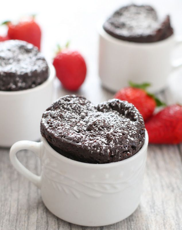 4 Ingredient Flourless Chocolate Mug Cake | Kirbie's Cravings | A San Diego food blog