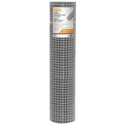 Everbilt 1 2 In X 4 Ft X 25 Ft 19 Gauge Steel Hardware Cloth 308226eb Home Depot Aquaponics Concrete Crafts