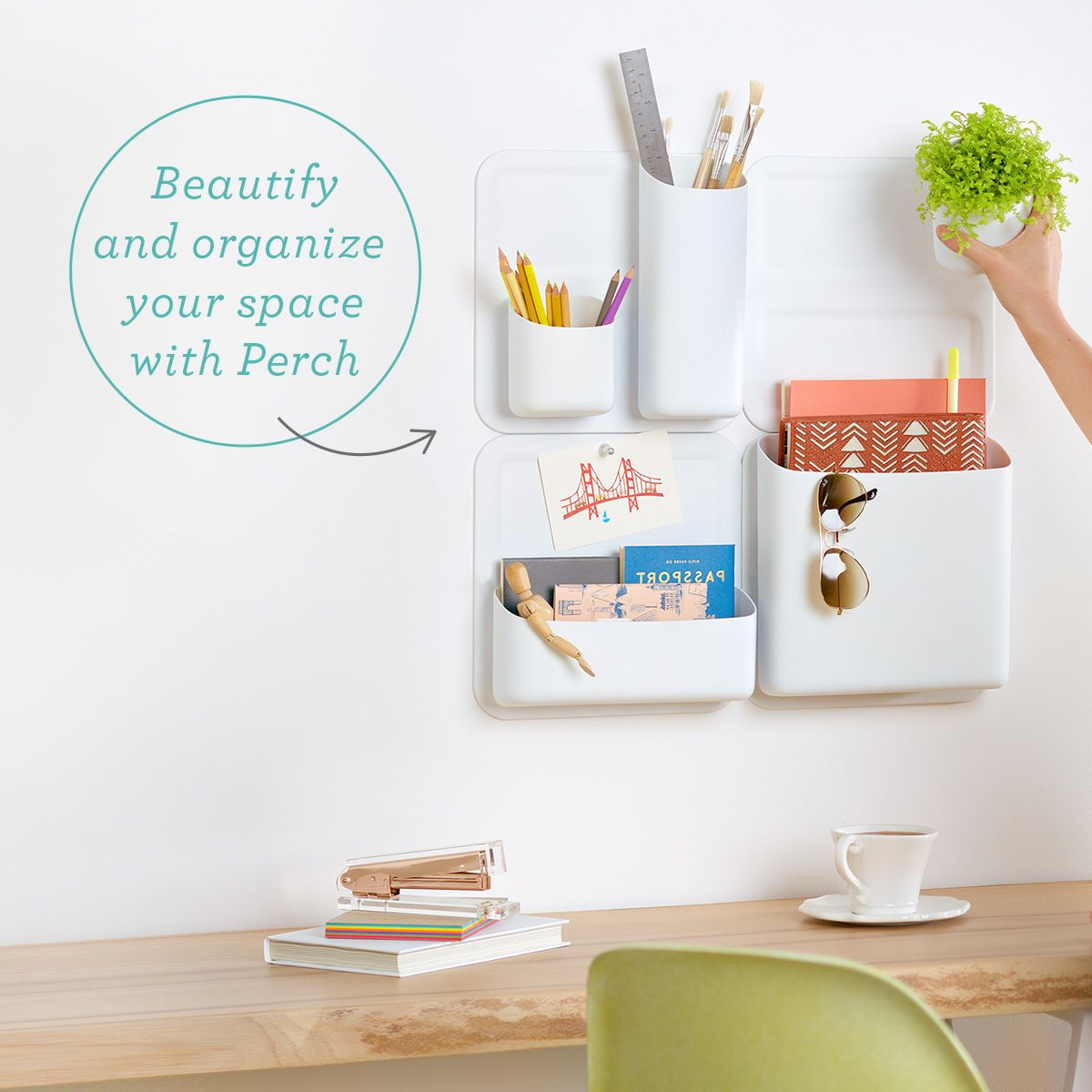 Bon Perch Magnetic Vertical Wall Storage