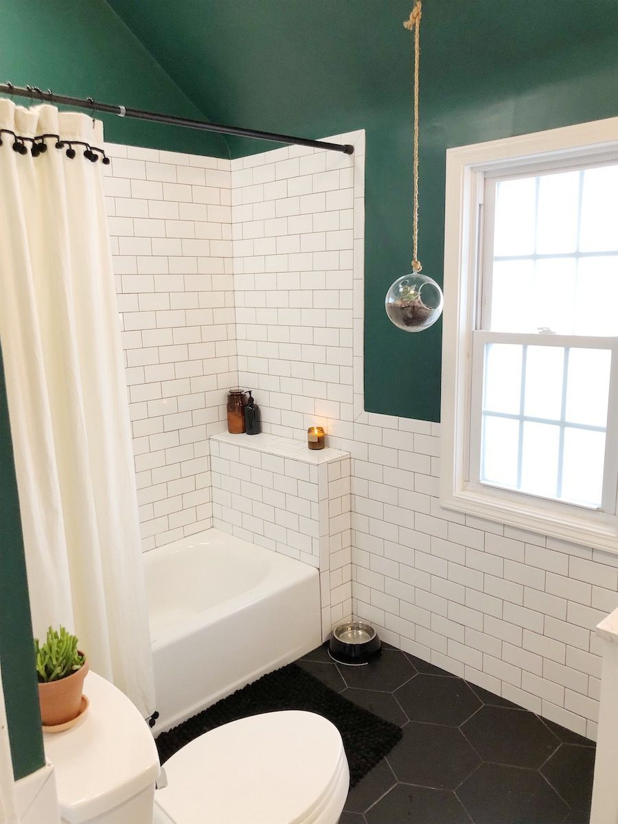 Photo of Before & After: A Beige Bathroom Gets A Deep Green Refresh