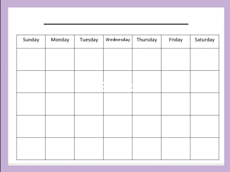 blank month calendar printable calendar template blank calendar
