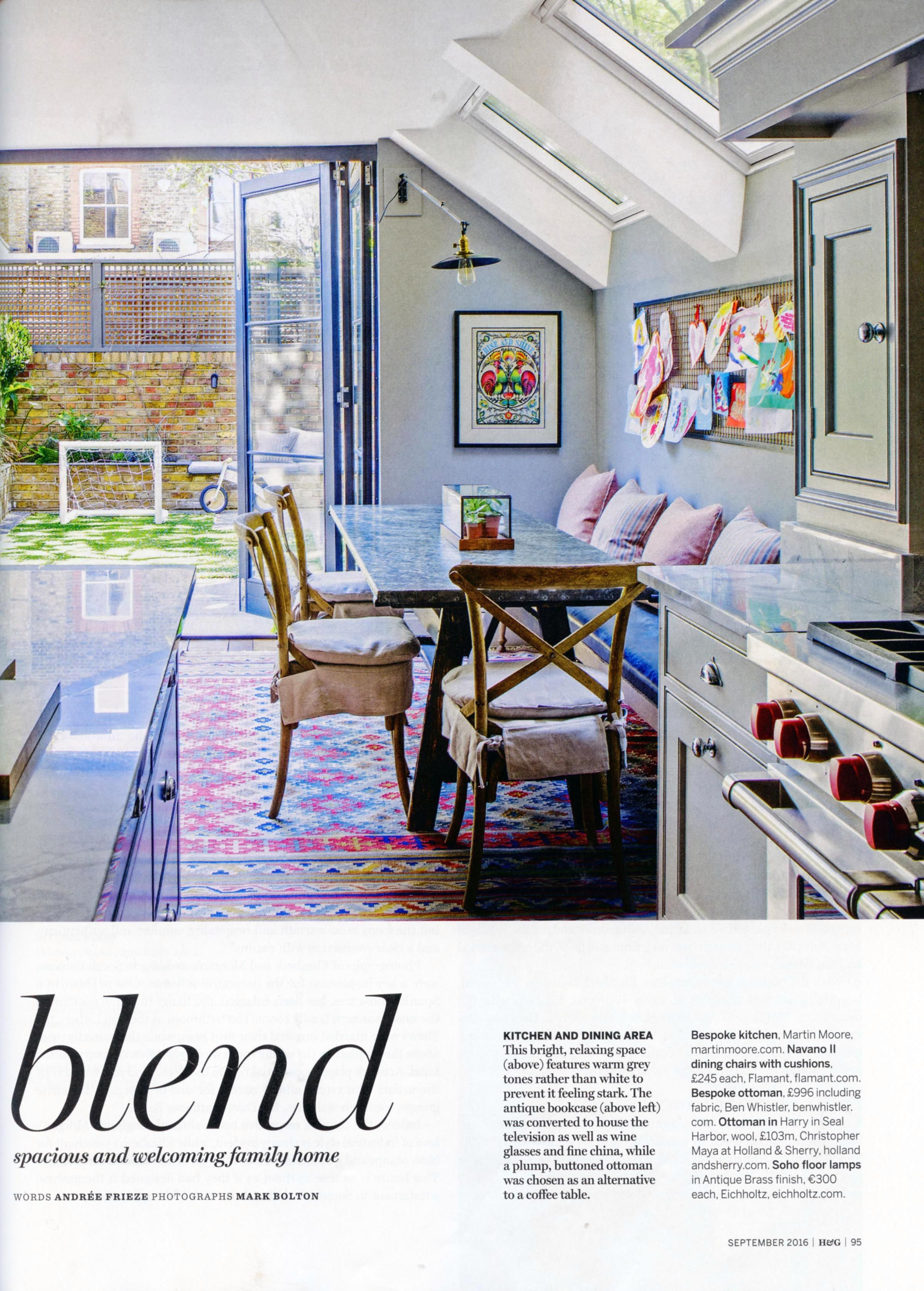 Incredible bespoke kitchen from Martin Moore. http://www.martinmoore.com/ Homes & Gardens September 2016