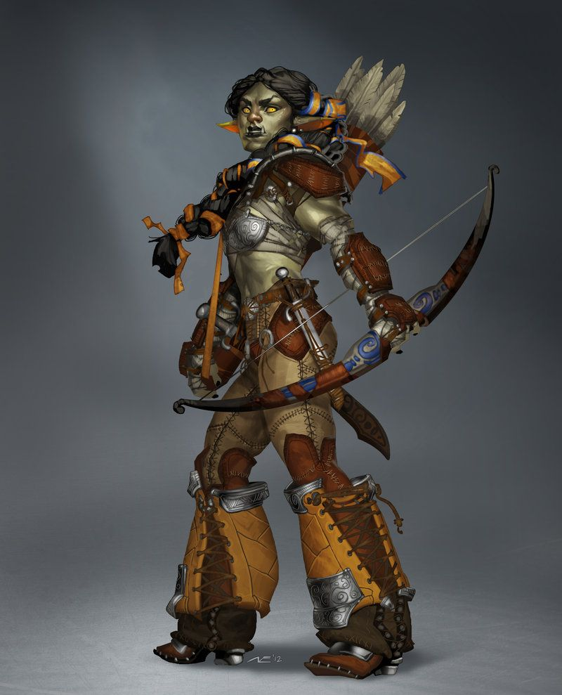 Badass Female Orc Warrior Archer Like Her Because She