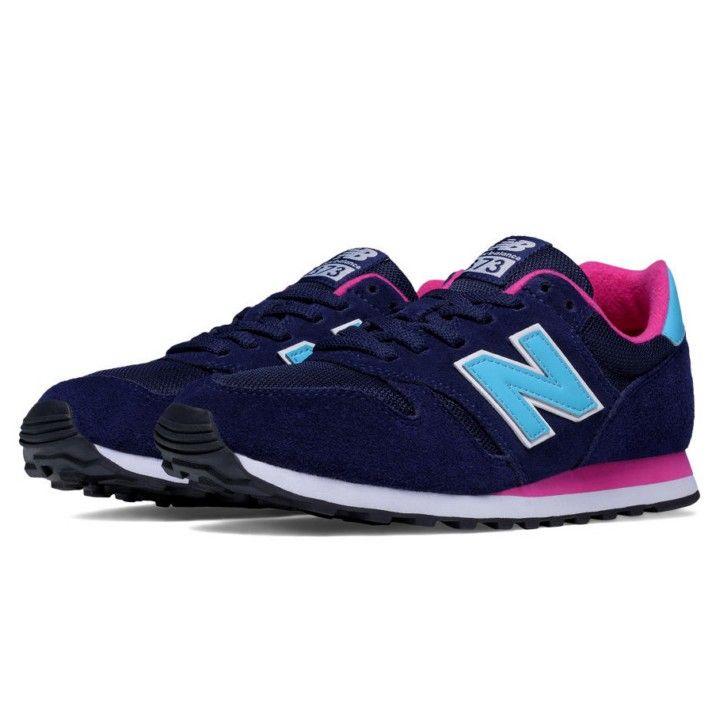 zapatillas new balance mujer azul y rosa