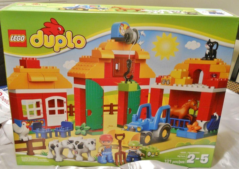 Christmas gift for kids lego duplo big farm 10525 toys