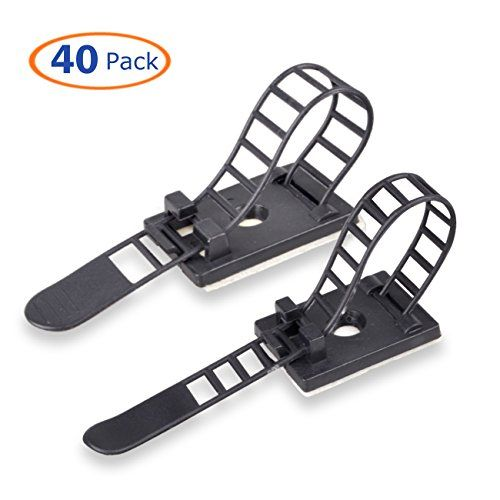 Cable Clips, Conwork Adhesive Wire Management Clamps, Desktop Cord ...