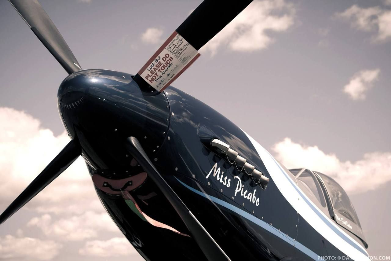 """""""Miss Picabo"""" Mustang P-51 air racer."""