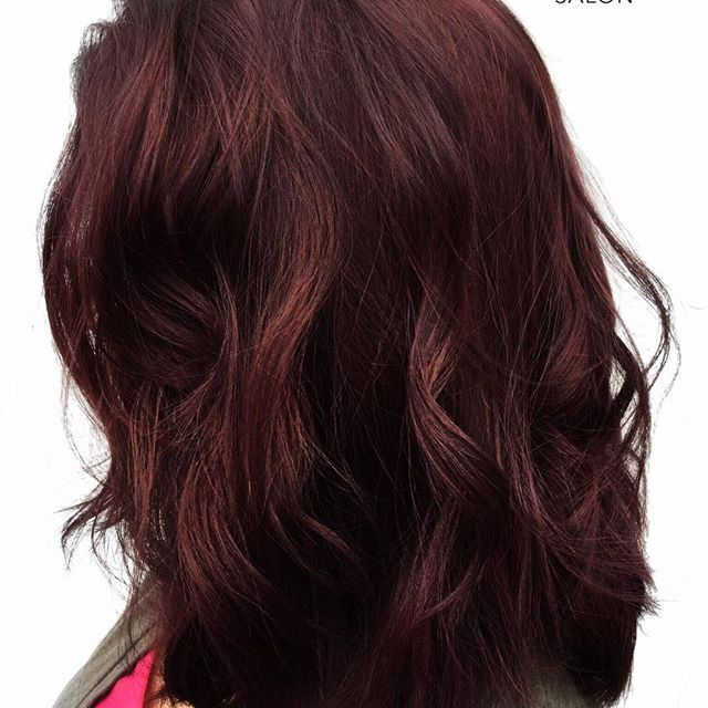 A Dark & Lovely Blend Of Brown And Crimson, Maroon Hair