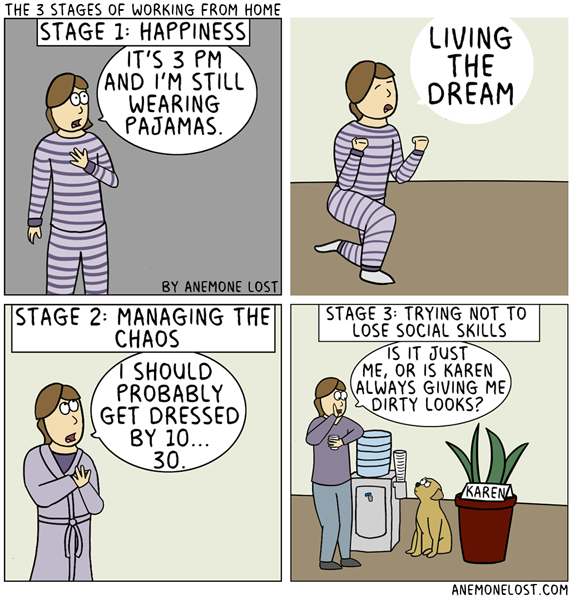 The 3 stages of working from home Working from home meme