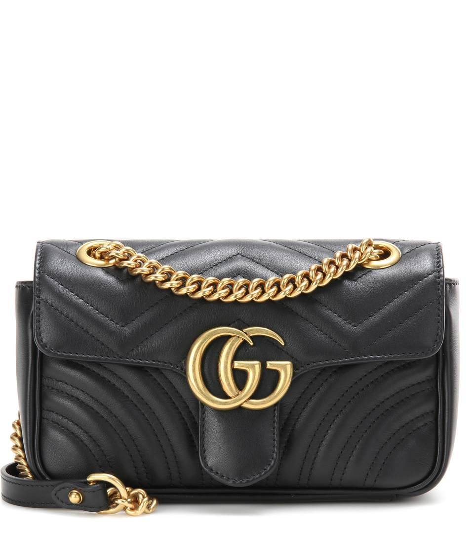 73ed8ed2b1ad5d GUCCI GG Marmont Small matelassé leather shoulder bag. #gucci #bags # shoulder bags