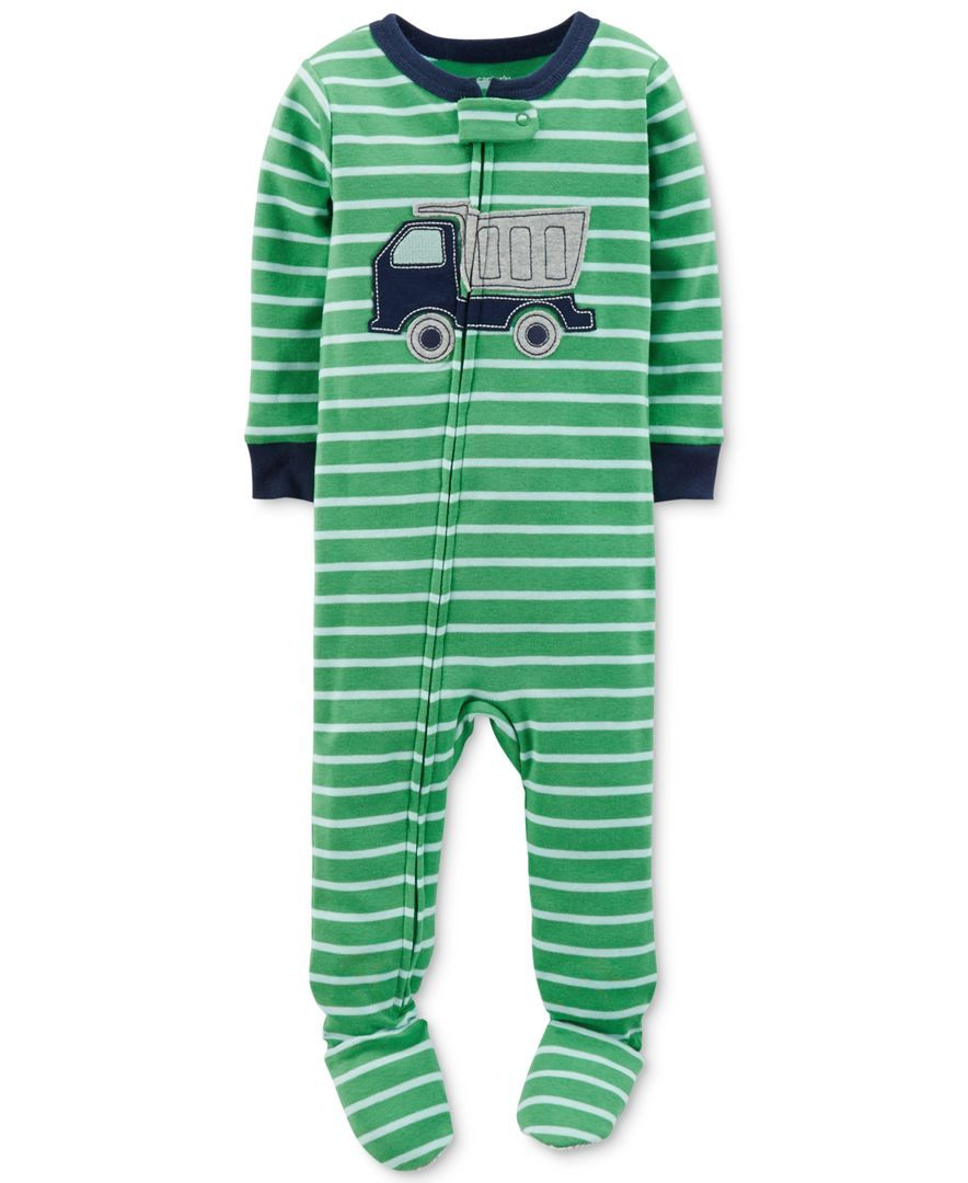 f202e8178 Carter s Toddler Boys  Footed Truck Pajamas