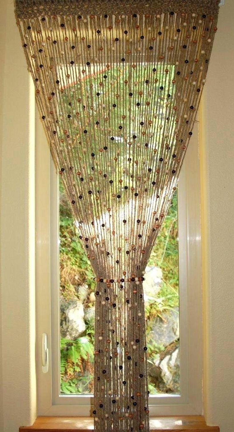 30 Pretty Crochet Window Curtain Ideas For Your Interior Design