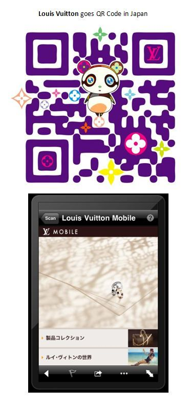 Louis Vuitton goes QR Code in Japan
